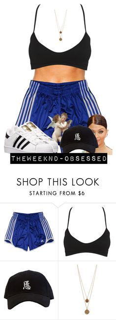 """..."" by theweeknd-obsessed ❤ liked on Polyvore featuring adidas, Wet Seal, Amrapali and Bee Charming"