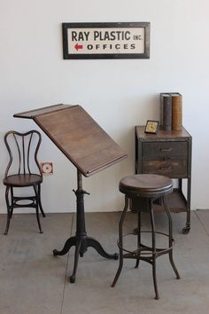 Vintage Antique Industrial Dietzgen Drafting Drawing Adjustable Table Desk 1920s #Industrial
