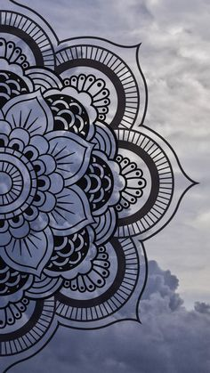 Mandala wallpaper by Maussk now. Browse millions of popular cielo wallpapers and ringtones on Zedge and personalize your phone to suit you. Browse our content now and free your phone Mandala Doodle, Mandala Art Lesson, Mandala Tattoo, Easy Mandala Drawing, Mandala Sketch, Mandala On Wall, Mandala Artwork, Doodle Art Drawing, Art Drawings