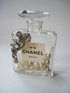 Embellished Chanel No. 5 Perfume Bottle .. cute!