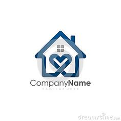 Modern style real estate logo design