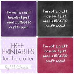 Free Printables for the Crafter - Ucreate