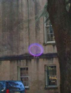 Unusual orb appears in photo of the The House on Abercorn, Savannah, GA.  (Photo by Lisa McLaughlin)