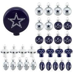 Forever Collectibles FOCO NFL Team Logo Football Shape Mancave Man Cave Hanging Wall Sign Dallas Cowboys