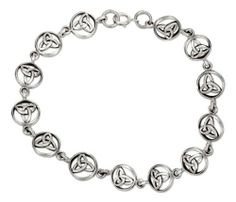 Sterling Silver 7 inch Continuous Link Round Celtic Trinity Knot Bracelet. 100Silver. $42.23