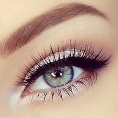 Beautiful rose eye makeup! We love the shimmer - try W3LL People eyeshadow in Iridescent Gold over RMS Master Mixer
