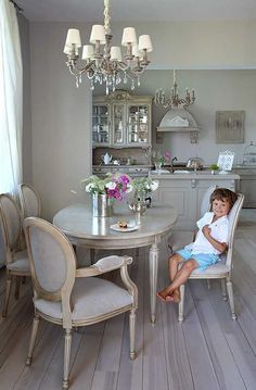 〚 Provence style house in Poland 〛 ◾ Photos ◾Ideas◾ Design Dining Decor, Dining Room Design, Dining Room Furniture, Home Furniture, Open Kitchen And Living Room, Home Decor Kitchen, Living Room Storage, Living Room Decor, French Country Dining