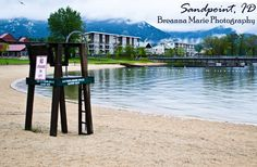 Lifeguard stand at the beach, Sandpoint, Idaho, Breana Marie Photography