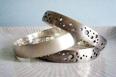 Brushed Heavy Silver Bangles
