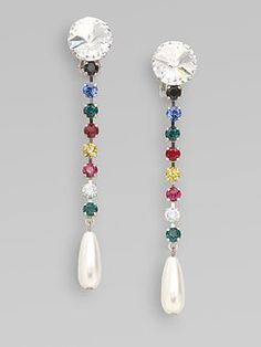 Miu Miu - Swarovski Crystal Accented Drop Earrings