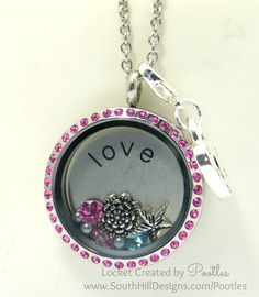 south hill designs | ... Pink with a Splash of Blue - South Hill Designs Locket Close Up