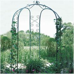 gazebo arch, garden corner for ivy and reading area?
