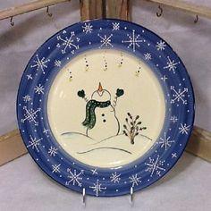 "Snowman Platter ""Reach for the Stars"" ~ Winter Wonderland Collection"