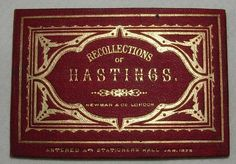 Recollections of Hastings, 1876, 12 engravings, Souvenir Concertina of Views