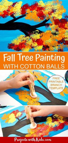 Fall Arts And Crafts, Easy Fall Crafts, Fall Crafts For Kids, Projects For Kids, Art For Kids, Kids Diy, Art Projects, Fall Crafts For Preschoolers, Fall Toddler Crafts