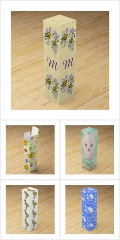 Easter rabbit with floral overlay wine gift box wine gift boxes easter wine gift boxes negle Images