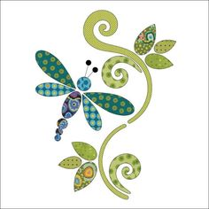 Applique Add On's - Dragonfly Set | Craftsy