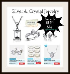Silver & Crystal Jewelry Starting at just $5 + FREE Shipping now on Tanga! Retails for $100 that is a 95% savings on nice jewlry - SCORE! http://www.frugalcouponliving.com/2013/11/07/silver-crystal-jewelry-5-regularly-100-discounted-95/