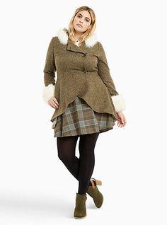 Outlander Claire Faux Fur Trim Riding CoatOutlander Claire Faux Fur Trim Riding Coat, BEECH