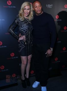 Dr. Dre & Nicole Young Thanks to Apple's acquisition of Beats, Dr. Dre boasts a net worth of $780 million. The hip-hop mogul-turned-entrepreneur married Nicole Threatt, an attorney, 19 years ago - See more at: http://madamenoire.com/438857/love-money-swirl-11-interracial-power-couples/7/#sthash.2OYMnVHU.dpufJudy Eddy/WENN.com