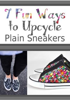 7 Ways to Upcycle Plain Shoes! DRAB TO FAB!!