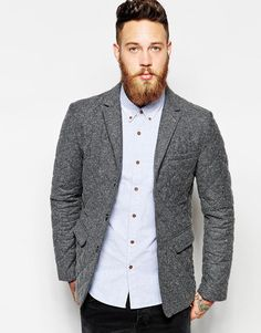 Image 1 of ASOS Slim Fit Blazer With Quilting