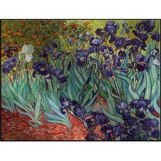 Irises by Van Gogh Framed Aluminum Print