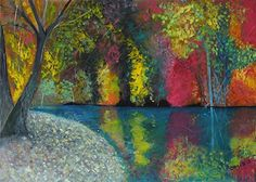 """""""Color Reflections"""" by artist Marino Chanlatte ~ Acrylic on Canvas ~ Size: 20"""" x 28"""" x 2"""" avail from 'chanlatte.com'★❤★"""