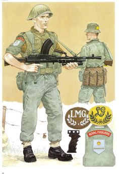 Royal Fusiliers Automatic Rifleman with BREN and PPE