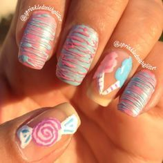 candy themed nails