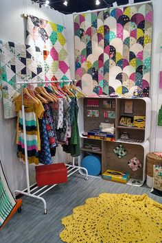 Cotton-and-Steel booth, 2014 Fall Quilt Market - Houston, photo by The Cloth Parcel