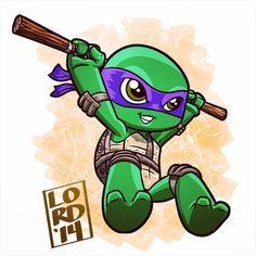 Super Lil TMNT: Donnie!!! #mangastudioex5 #tmnt #teenagemutantninjaturtles #donnie