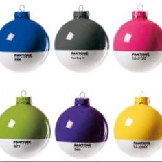 These are way cool. Pantone ornaments