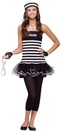 This teenage guilty prisoner costume is a must have to pair with police costumes. Check out all of our kids robber costumes and girls convict costume ideas ...  sc 1 st  Pinterest & Cheerleader Kids Costume | Pinterest | Girls cheerleader costume ...