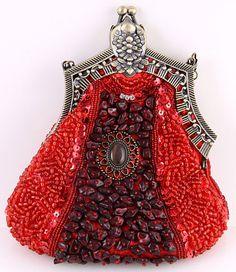 beaded, jeweled bag