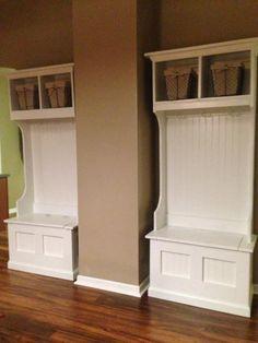 DIY mudroom cabinets!
