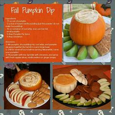 I do this except with butterscotch pudding and real whipped cream, and a little marshmallow creme! Delicious pumpkin dip-great w/mini graham crackers, cinnamon honey pretzels, ginger snaps, and apples! Pumpkin Dip, Baby In Pumpkin, Pumpkin Pie Spice, Pumpkin Recipes, Fall Recipes, Holiday Recipes, Holiday Ideas, Holiday Foods, Thanksgiving Ideas