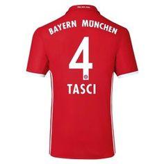 16-17 FC Bayern Munichen Cheap Home Replica Shirt #4 TASCI [E618]