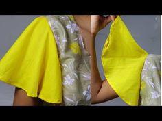 পালাজ্জ হাতা,রুমাল হাতা বা অনেক ঘের দেওয়া হাতা তৈরি করার নিয়ম/umbrella s. Saree Jacket Designs, Saree Blouse Neck Designs, Fancy Blouse Designs, Dress Sewing Tutorials, Dress Sewing Patterns, Clothing Patterns, Shrug For Dresses, Sleeves Designs For Dresses, Sewing Blouses