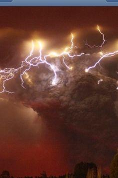 Lightning in Volcano in Chili