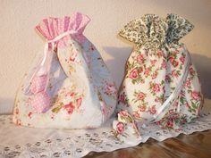 Lingerie bag, pure cotton, straight quilting.