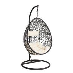 Hangstoel Swing – zwart – Home Dekor Chill Lounge, Chill Room, Hammock Chair, Swinging Chair, Swing Chairs, Relax Chair, Interior Desing, Interior Design Living Room, Dream Rooms