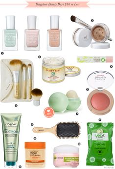 Drugstore Beauty Buys 10-dollars or Less