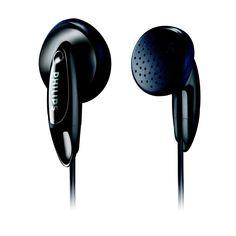 Philips In-Ear Basic Earbuds - Black (SHE1350/28)