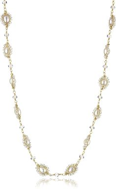 Dana Kellin Adjustable Pearl and Crystal Collar Necklace -- To view further for this item, visit the image link. (This is an affiliate link and I receive a commission for the sales)