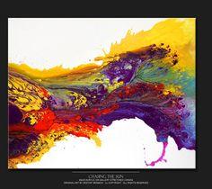 Abstrait toile Art peinture énorme 30 x 40 peintures par wostudios