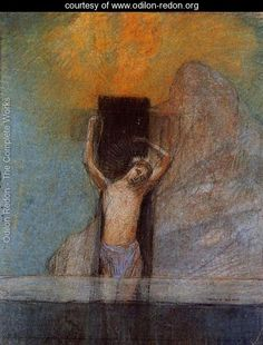 Christ On The Cross - Odilon Redon