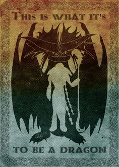 This is what it is to be a dragon - Valka