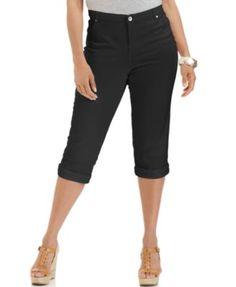 Style & Co. Plus Size Tummy-Control Capri Jeans | macys.com