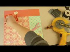 I love the simple layout of the paper elements.  How To Make Scrapbook Embellishements: Winter Layout